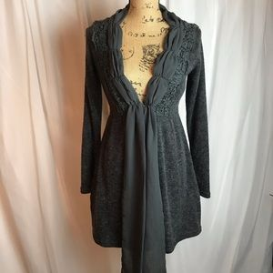 A'reve Scarf Front Cardigan